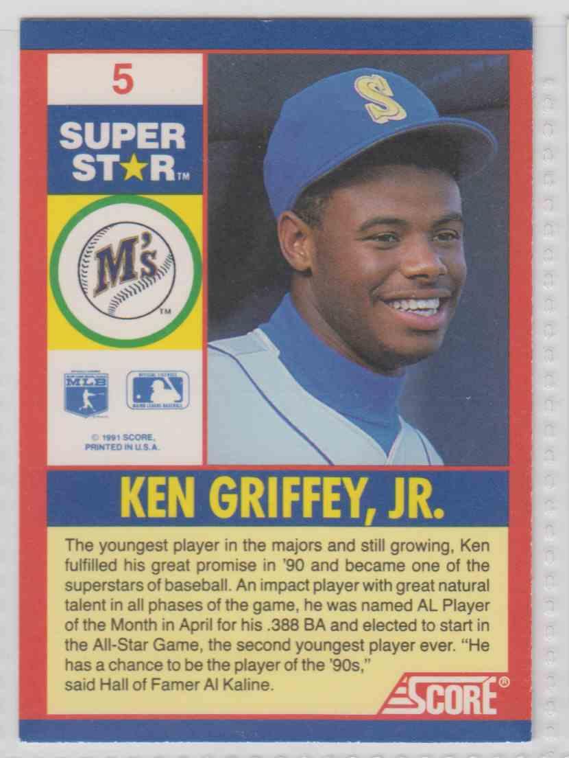 1991 Score 100 Superstars Ken Griffey Jr 5 On Kronozio