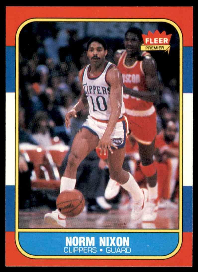 1986-87 Fleer Norm Nixon #80 OF 132 card front image