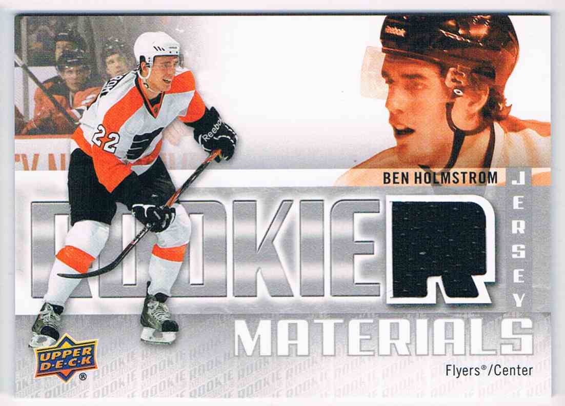 2011-12 Upper Deck Rookie Materials Ben Holmstrom #RM-BH card front image