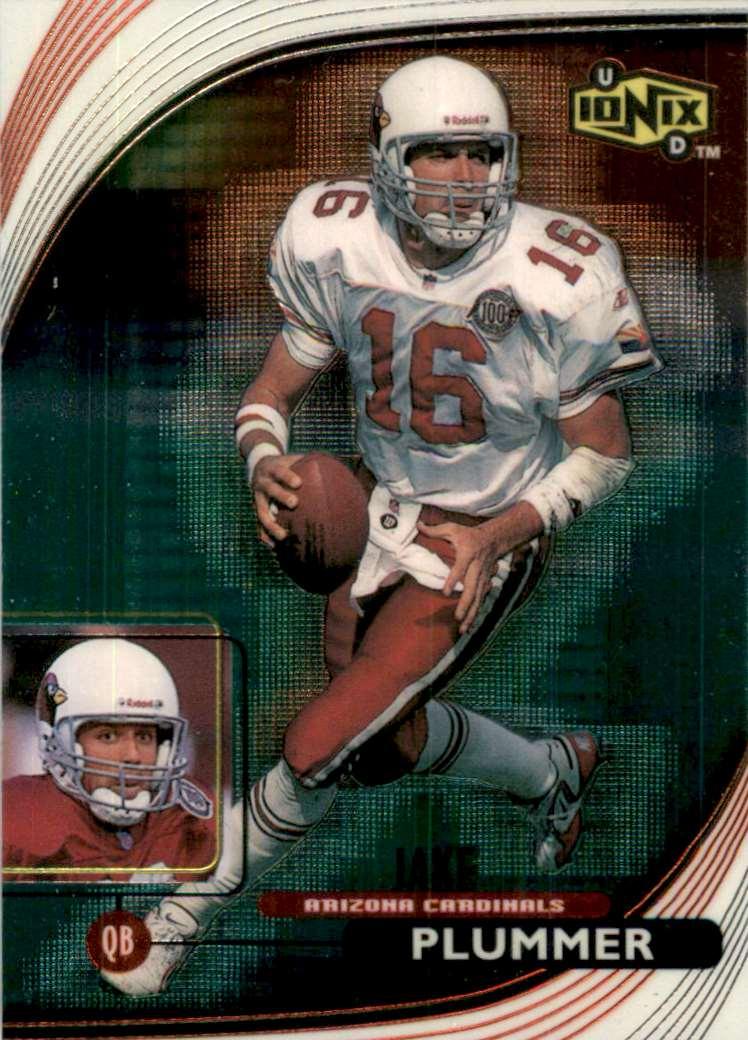 1999 UD Ionix Jake Plummer #1 card front image