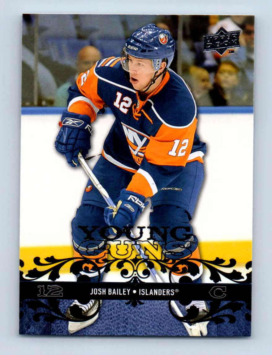 2008-09 Upper Deck Young Guns Josh Bailey #479 card front image