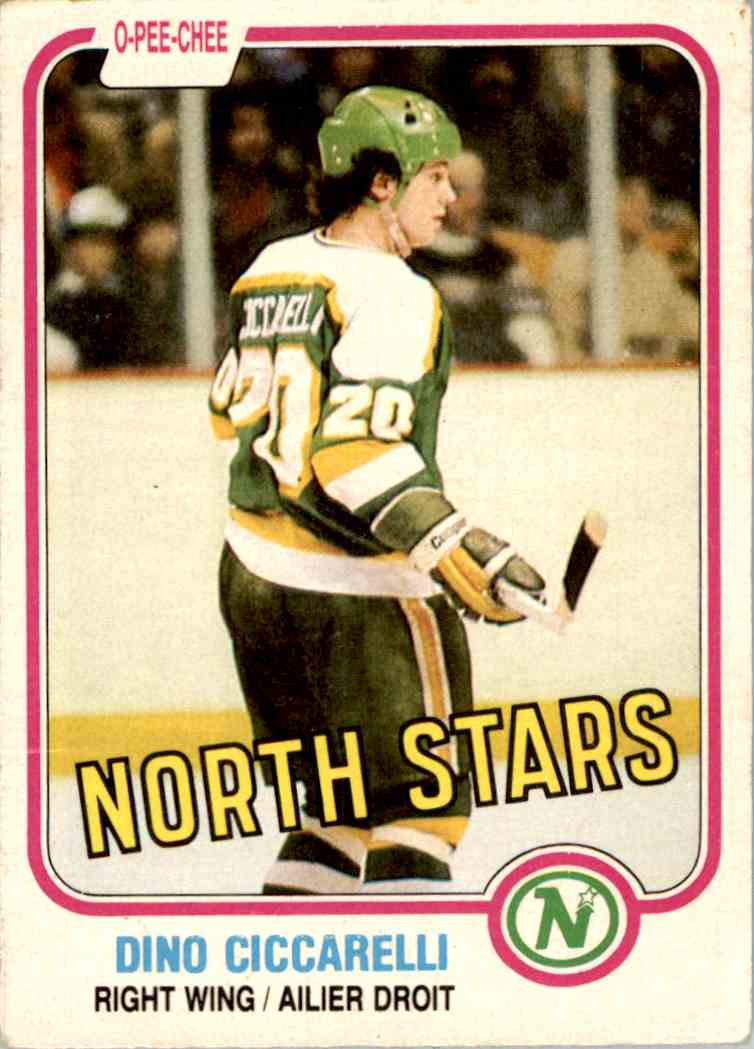 1981-82 O-Pee-Chee Dino Ciccarelli #161 card front image
