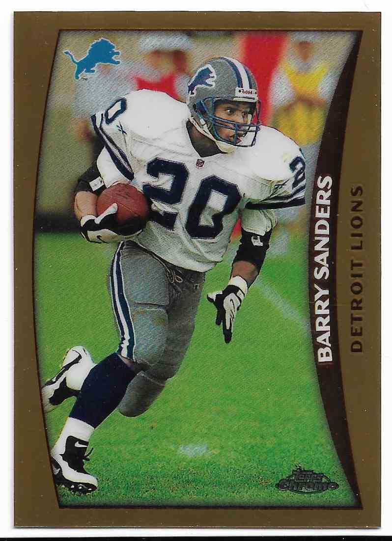 1998 Topps Chrome Barry Sanders #1 card front image