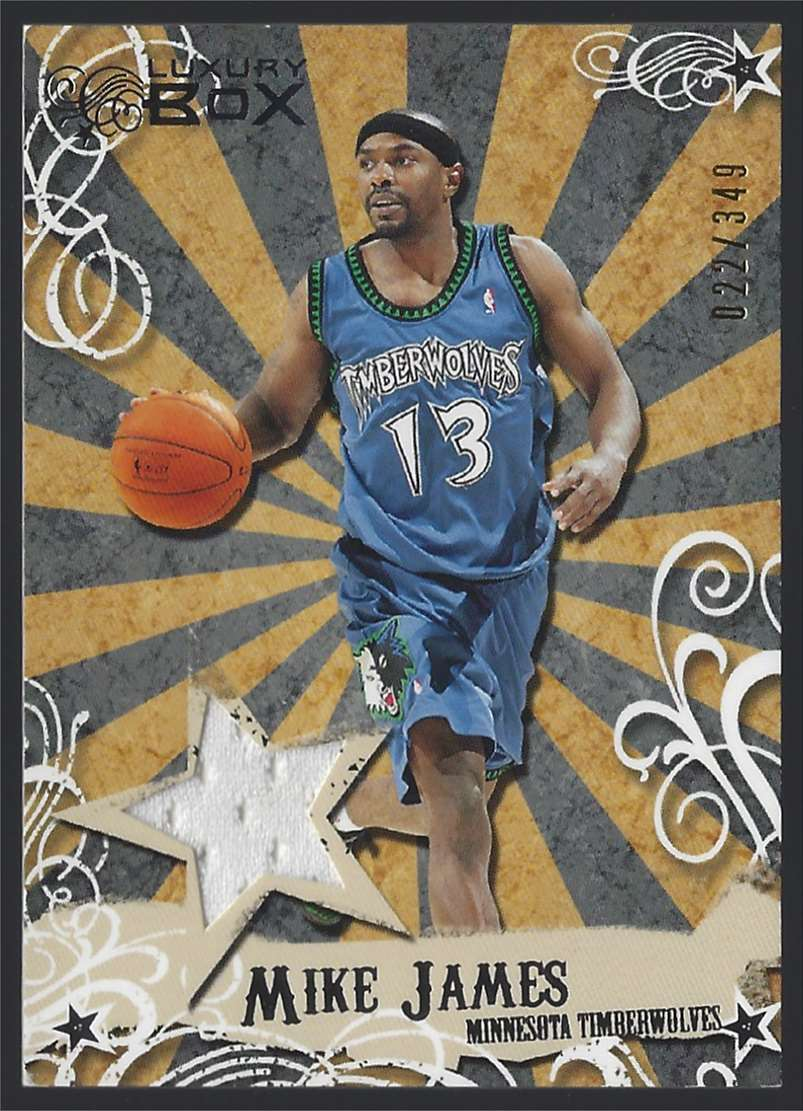 2006-07 Topps Luxury Box Mezzanine Relics Mike James #MRMJ card front image