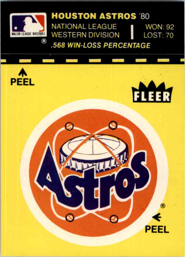 1981 Laughlin/Fleer 1976 All-Star Stickers - Five Reds In Starting Lineup - card back image