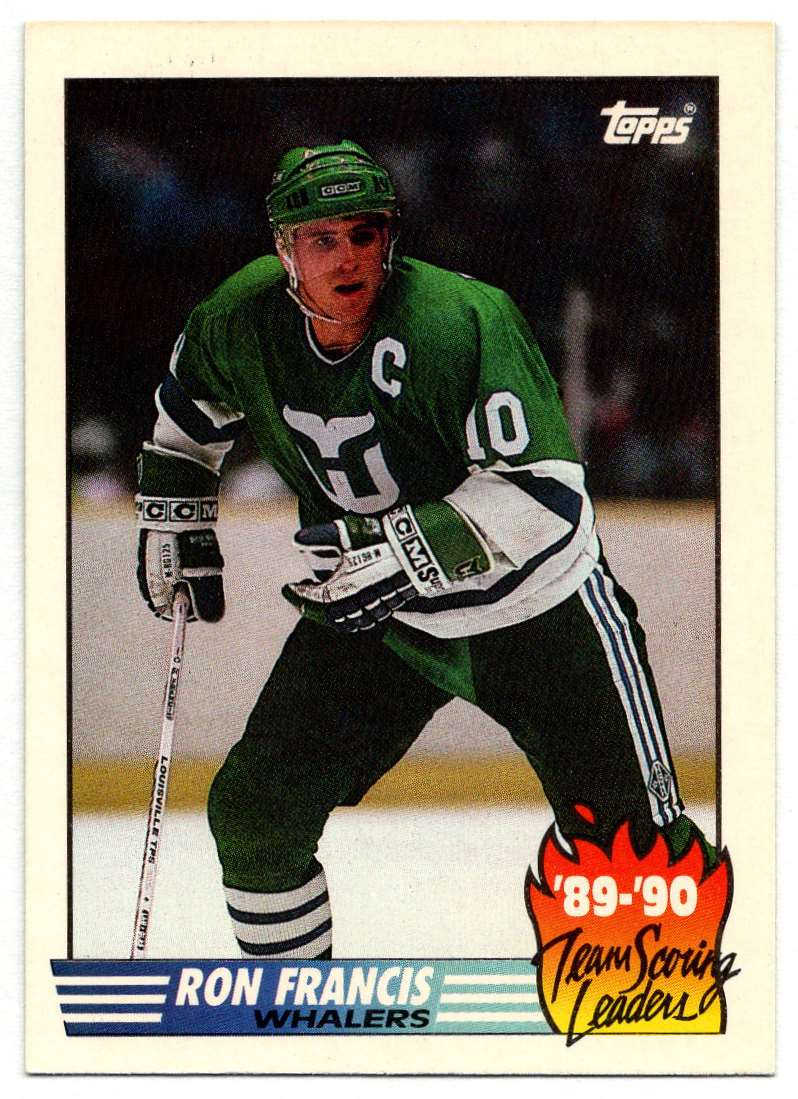 1990-91 Topps Scoring Leaders Ron Francis #21 card front image