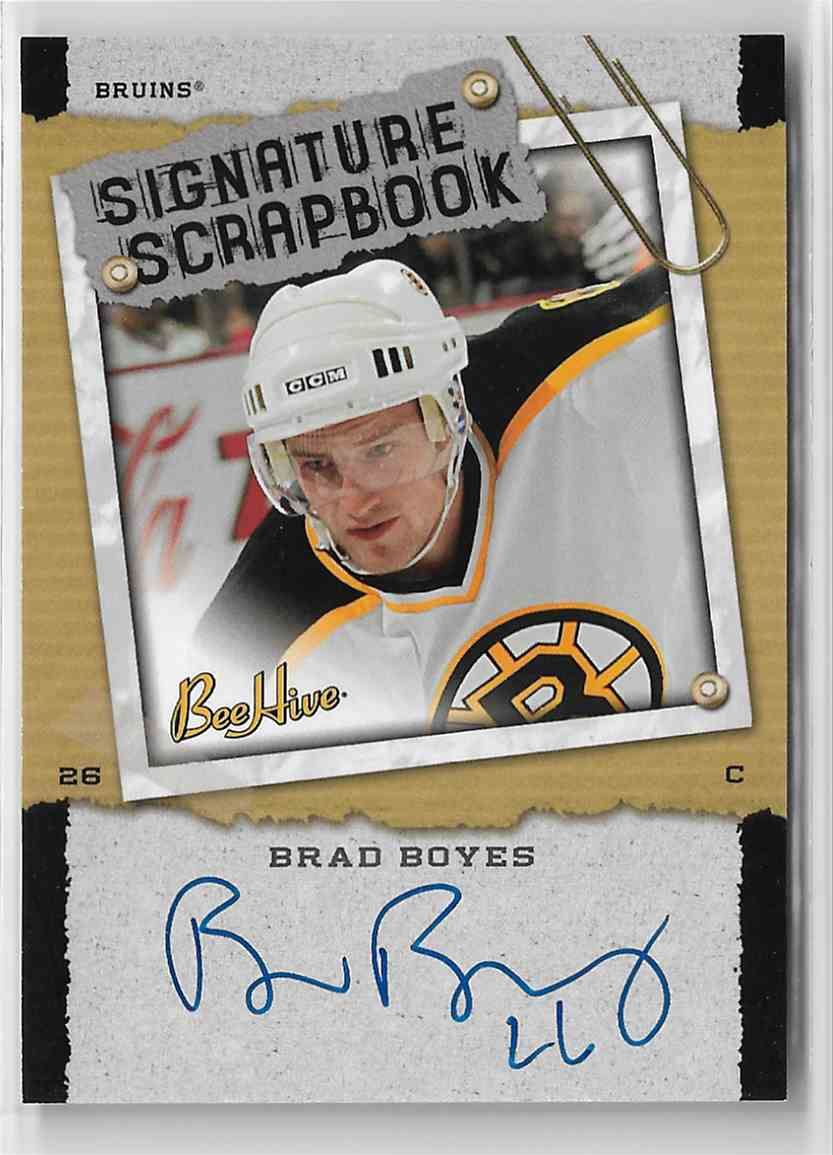 2006-07 Upper Deck Bee Hive Signature Scrapbook Brad Boyes #SS-BB card front image