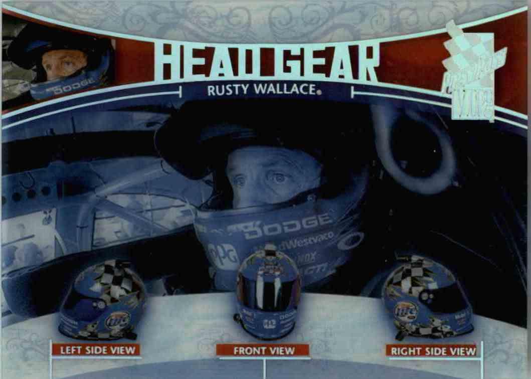 2005 Press Pass Vip Head Gear Rusty Wallace #HG11 card front image