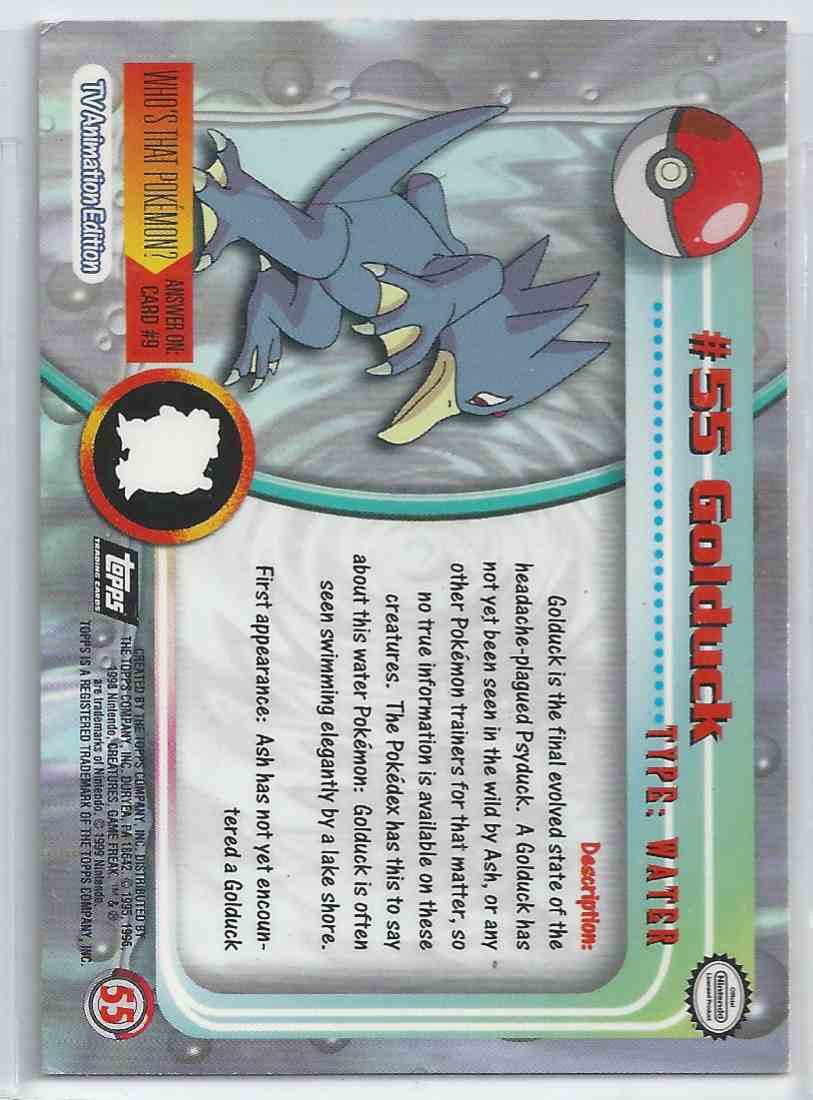 Golduck Pokemon Card Topps USA SELLER