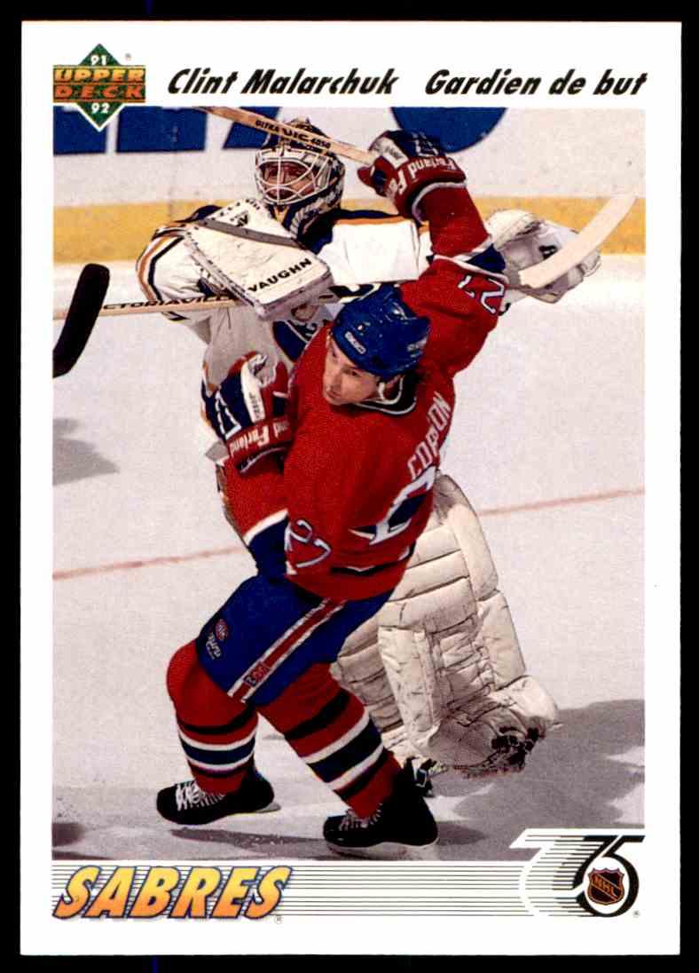 1991 92 Upper Deck Clint Malarchuk 368 On Kronozio