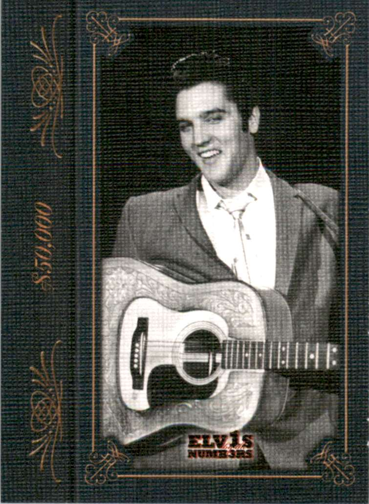2008 Elvis By The Numbers Canvas $50,000 #36 card front image