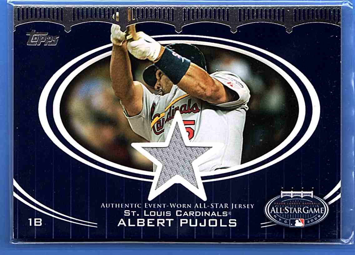 2008 Topps Update All-Star Stitches Albert Pujols #AS-AP card front image