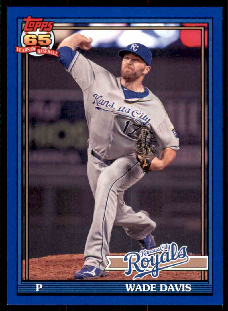 2016 Topps Archives Blue Wade Davis #289 card front image