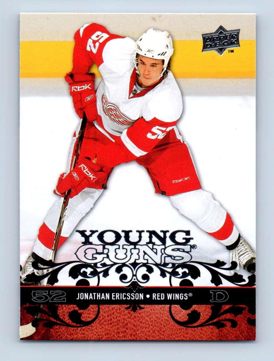 2008-09 Upper Deck Young Guns Jonathan Ericsson #212 card front image