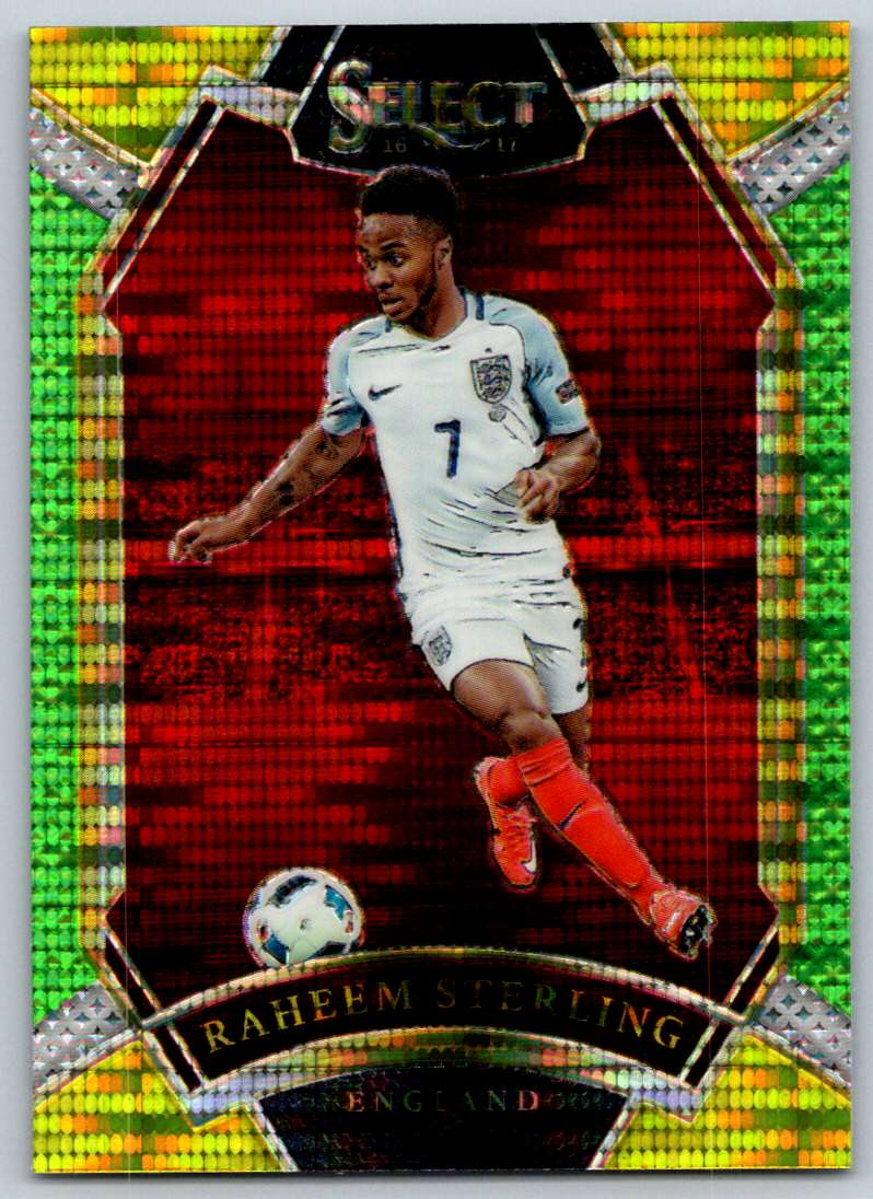 2016 Select Multi Color Prizms Raheem Sterling #214 card front image
