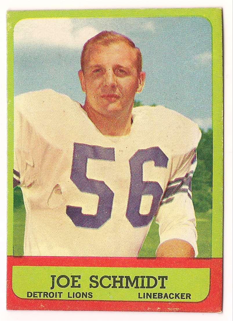 1963 Topps Joe Schmidt #35 card front image