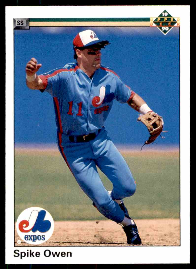 1990 Upper Deck Baseball Spike Owen #291 on Kronozio