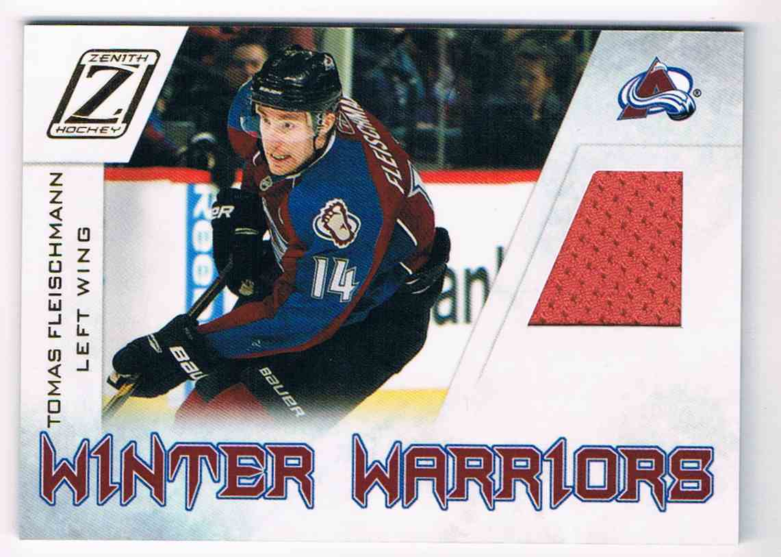 2010-11 Zenith Winter Warriors Tomas Fleischmann #TF card front image