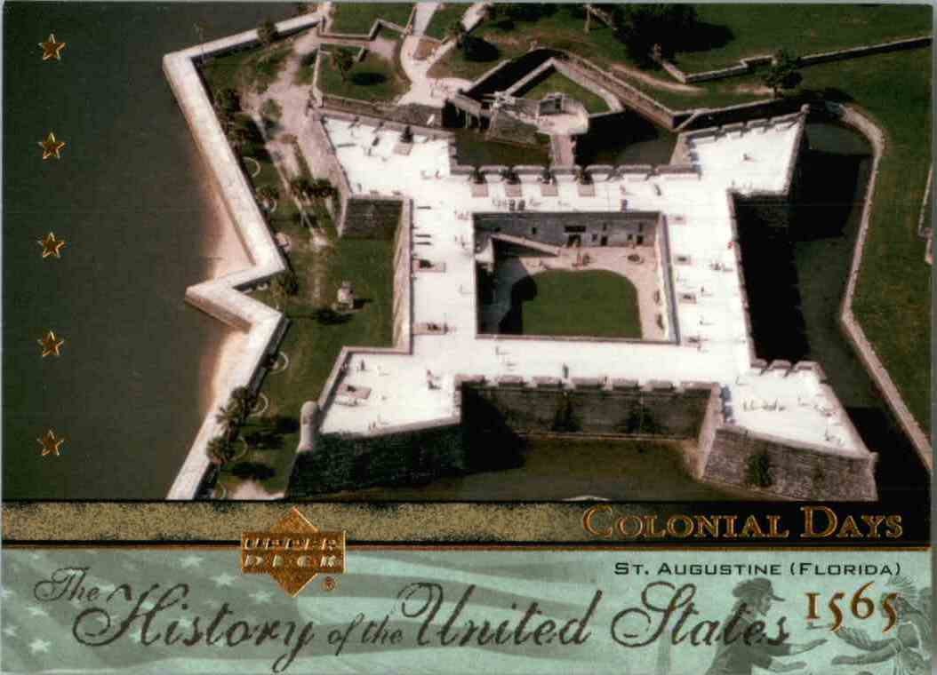 2004 Upper Deck History Of The United States St. Augustine, Florida #CD6 card front image