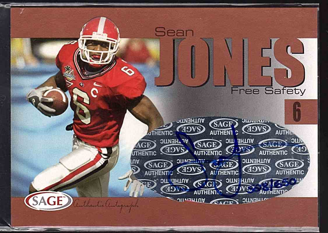 2004 Sage Autographs Bronze Sean Jones #A23 card front image