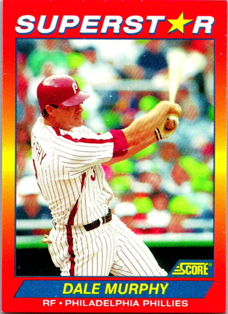 1992 Score 100 Superstars Dale Murphy #40 card front image