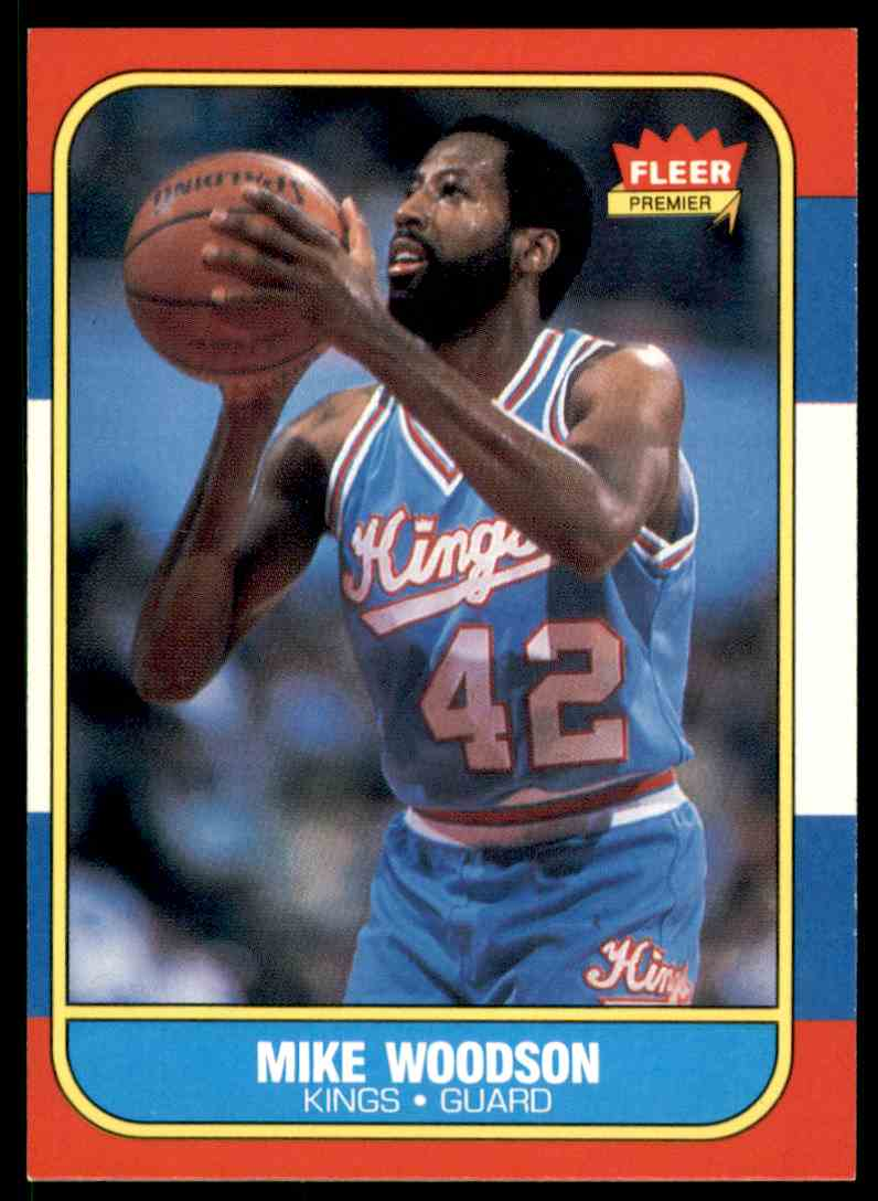 1986-87 Fleer Mike Woodson #129 OF 132 card front image
