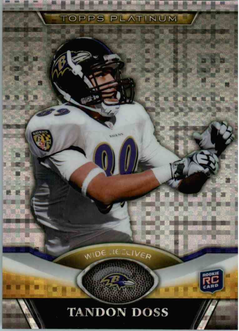 2011 Topps Platinum Tandon Doss #28 card front image