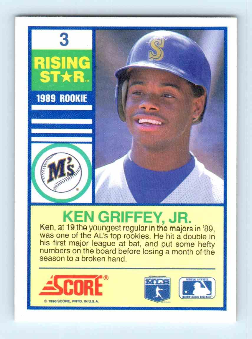 1990 Score Rising Star Ken Griffey Jr 3 On Kronozio