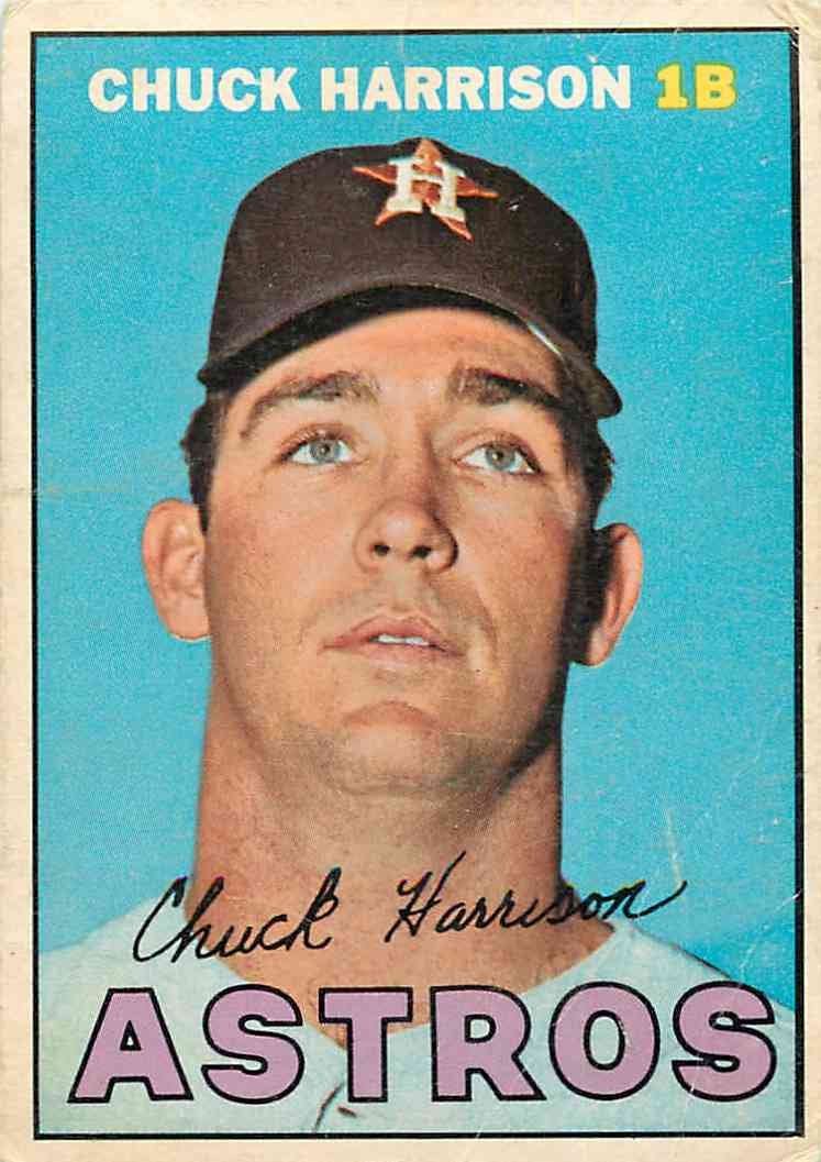 1967 Topps Chuck Harrison #8 card front image
