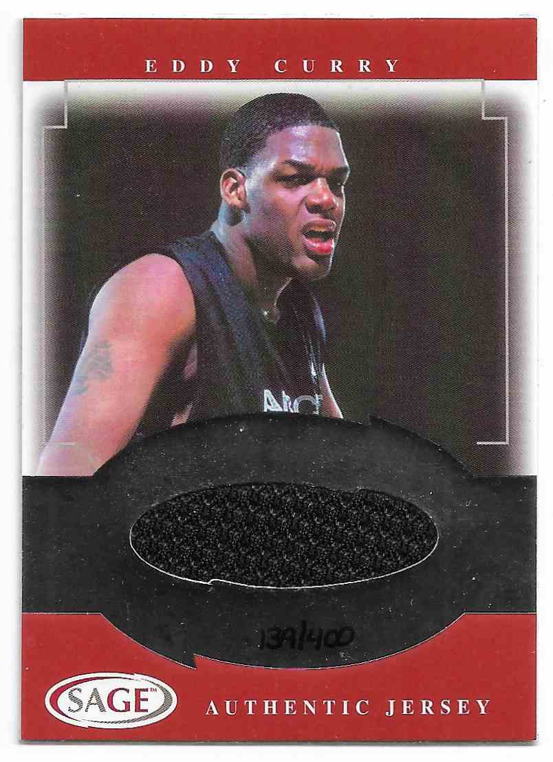 2001-02 Sage Eddy Curry #J6 card front image
