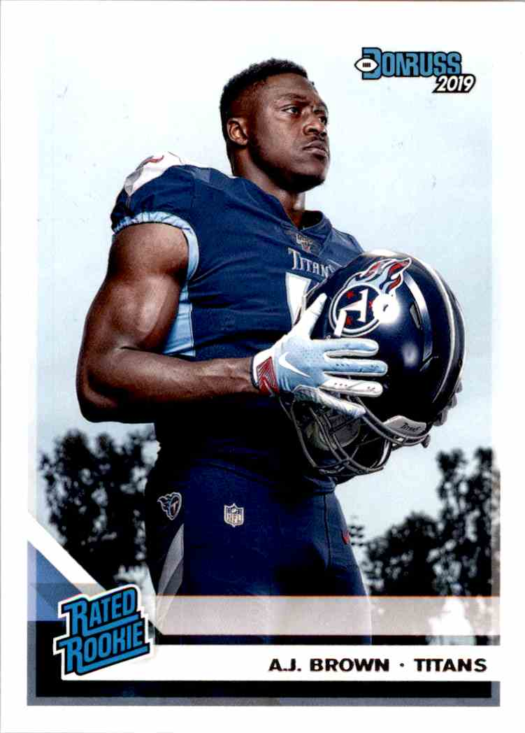 2019 Panini Donruss Rated Rookie A.J. Brown #314 card front image