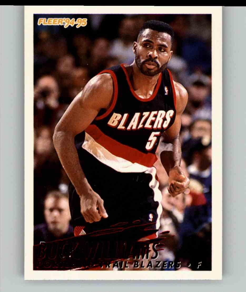 1994-95 Fleer Buck Williams #191 card front image