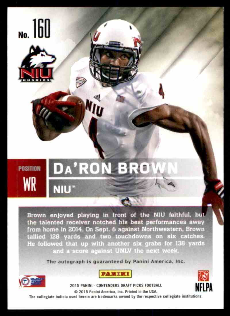 2015 Panini Contenders Daron Brown card back image