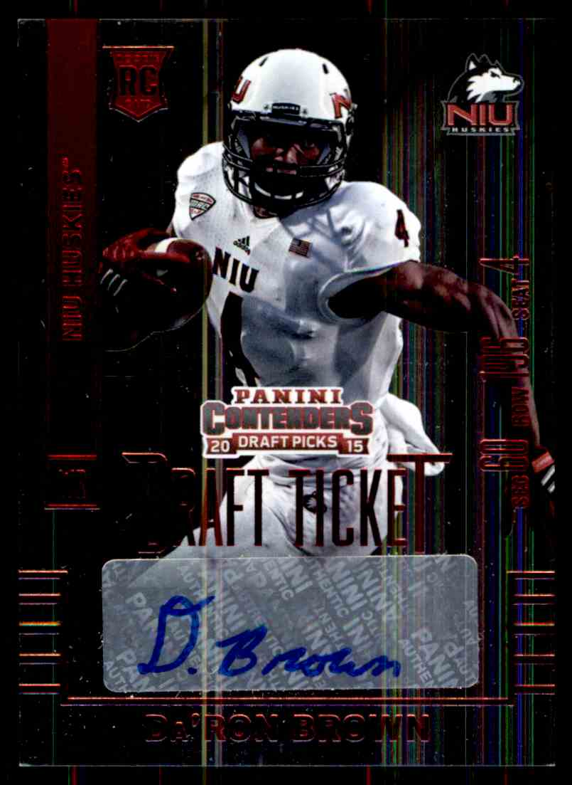 2015 Panini Contenders Daron Brown card front image