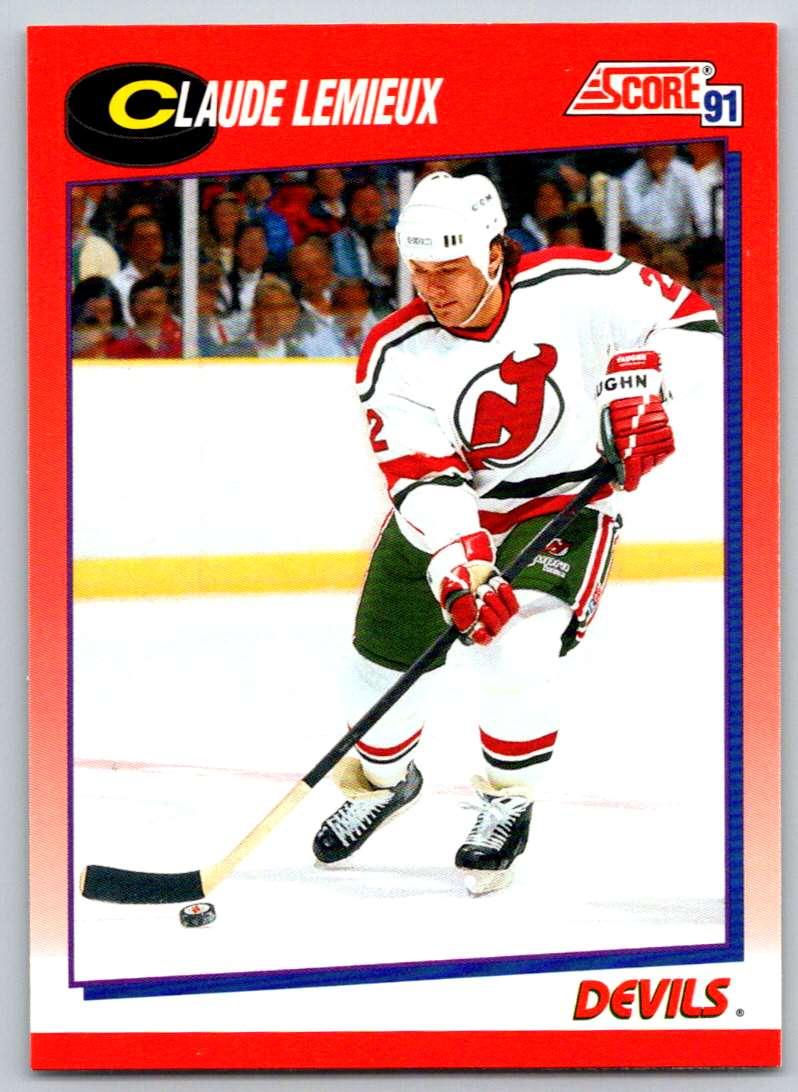 1991-92 Score Canadian Bilingual Claude Lemieux #22 card front image