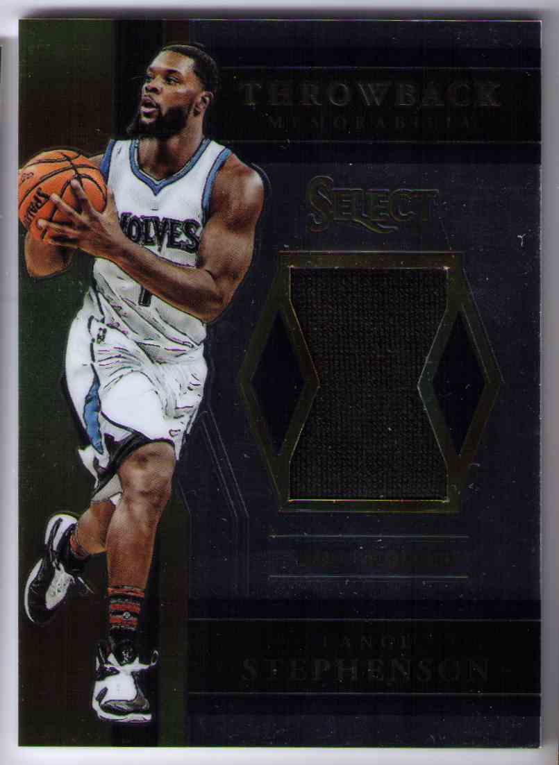 2017-18 Panini Select Throwback Materials Jersey Relic Lance Stephenson #TM-LSV card front image