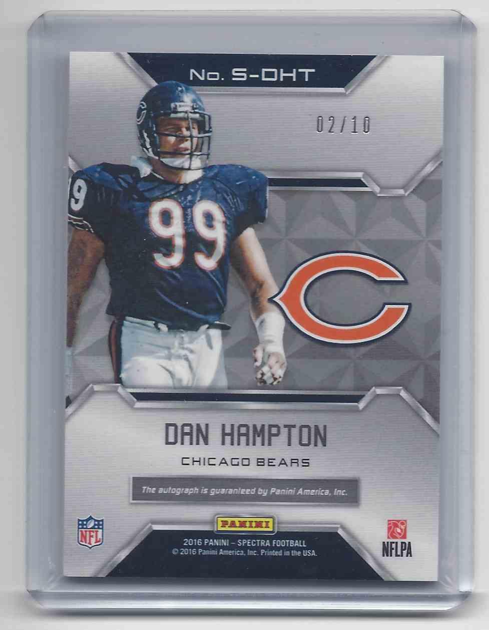 2016 Panini Spectra Dan Hampton #S-DHT card back image
