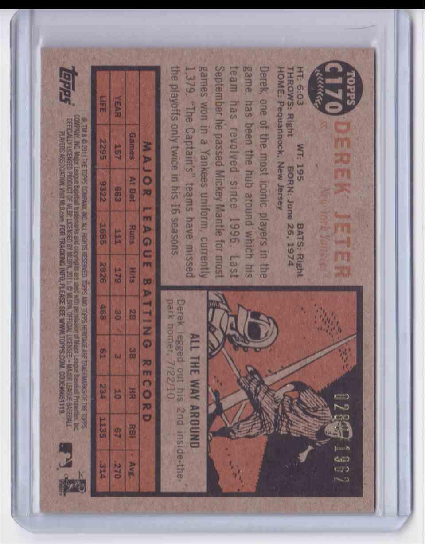 2011 Topps Heritage Chrome Derek Jeter #C170 card back image