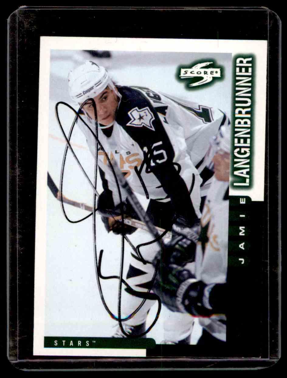 1997-98 Score Autographs Jamie Langenbrunner #211 card front image