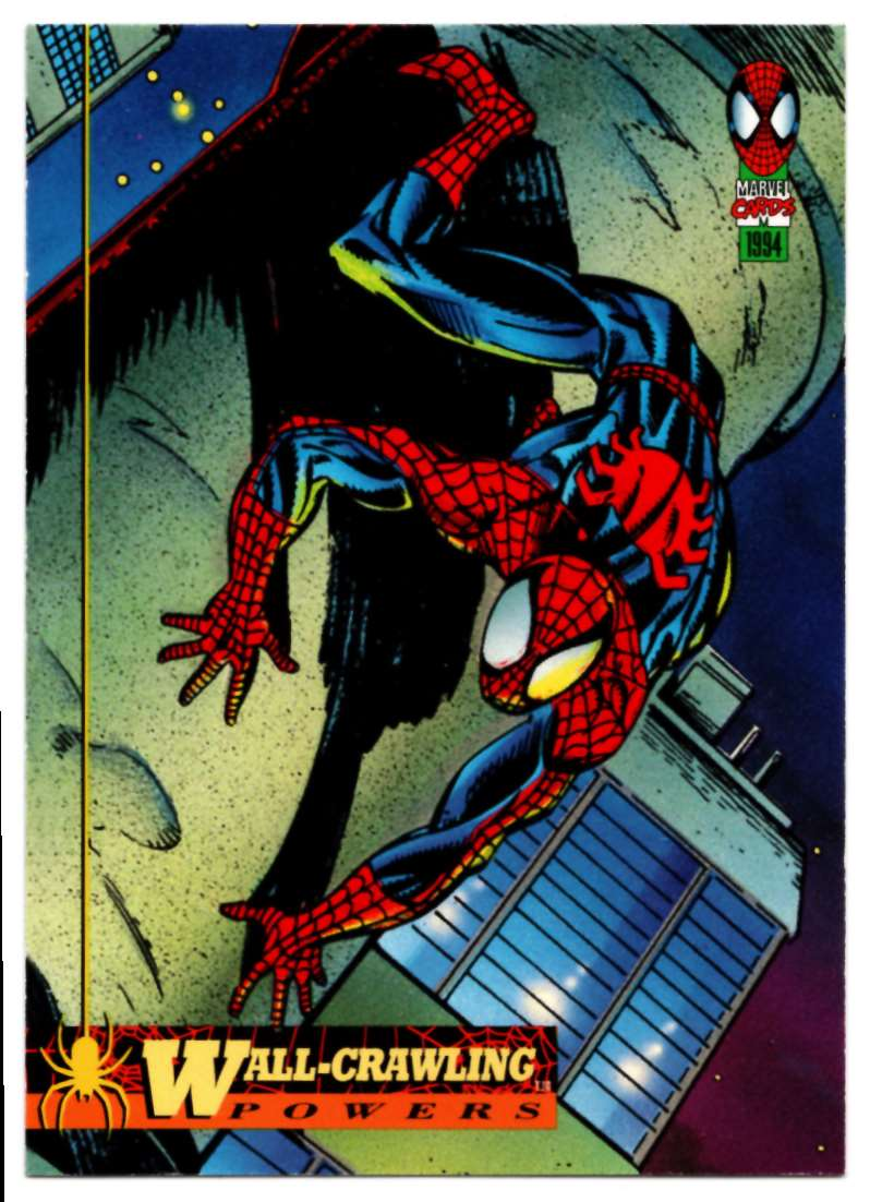 1994 Amazing Spider-Man Wall-Crawling Powers #1 card front image