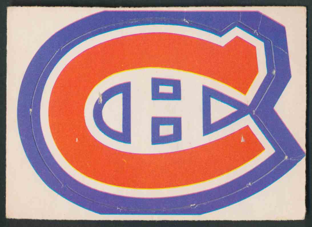 1972-73 O-Pee-Chee Montreal Canadiens Logo card front image