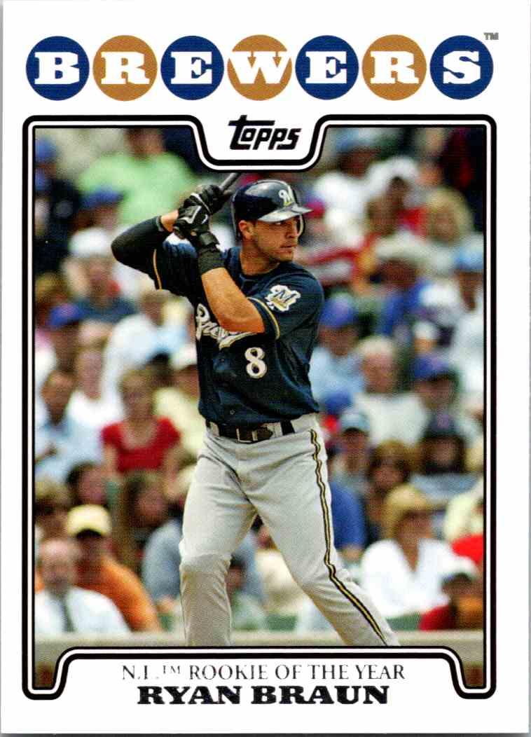 2008 Topps Ryan Braun #101 card front image