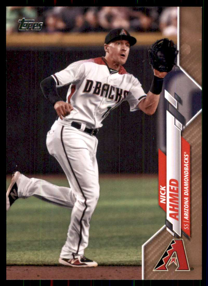 2020 Topps Gold Nick Ahmed #680 card front image