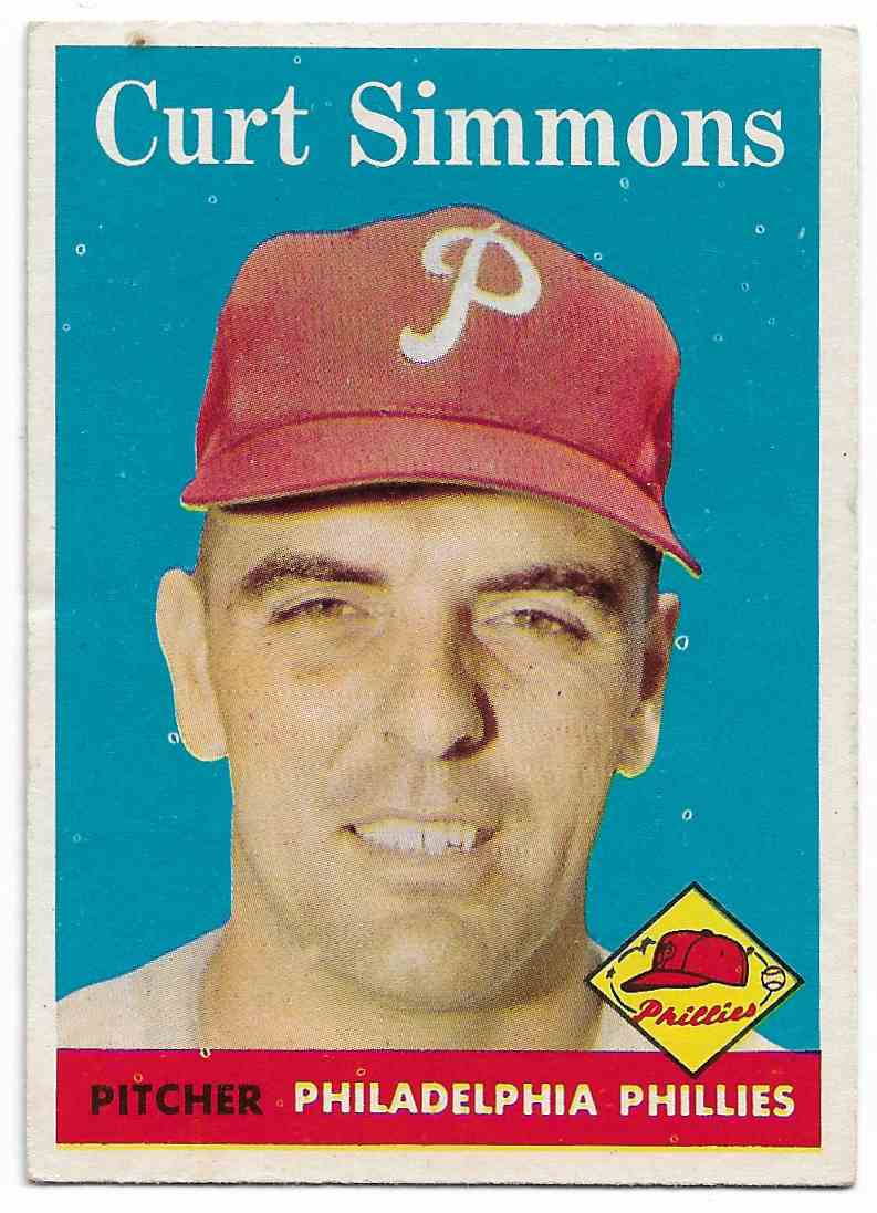 1958 Topps Curt Simmons #404 card front image