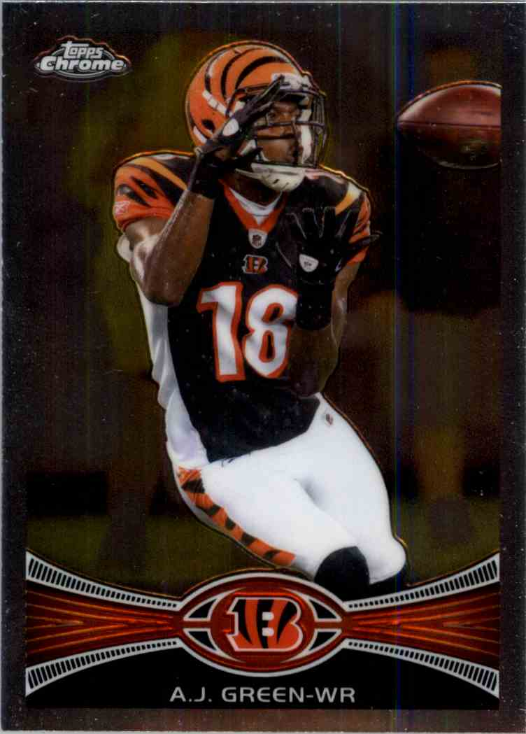 2012 Topps Chrome A.J. Green #85 card back image