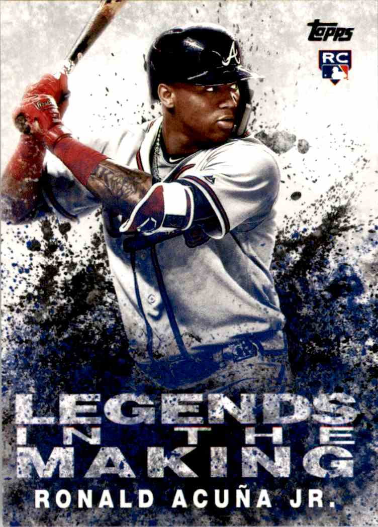 2018 Topps Legends In The Making Ronald Acuna Jr Litm 1 On