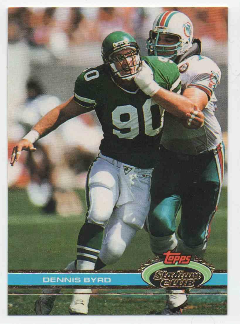 1991 Stadium Club Dennis Byrd #133 card front image