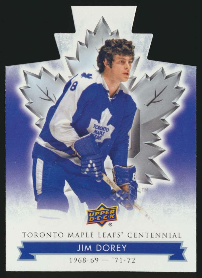 2017-18 UD Maple Leafs Centennial Die Cut Jim Korey #56 card front image