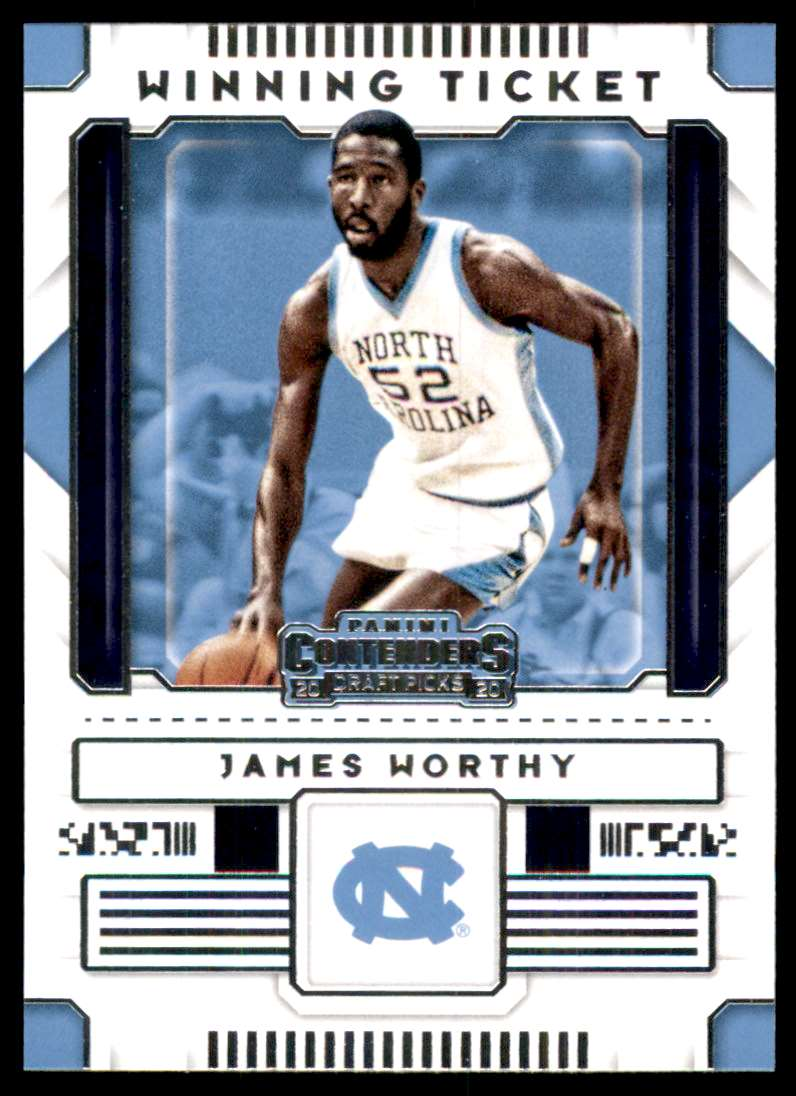 2020-21 Panini Contenders Draft Picks Winning Tickets James Worthy #26 card front image