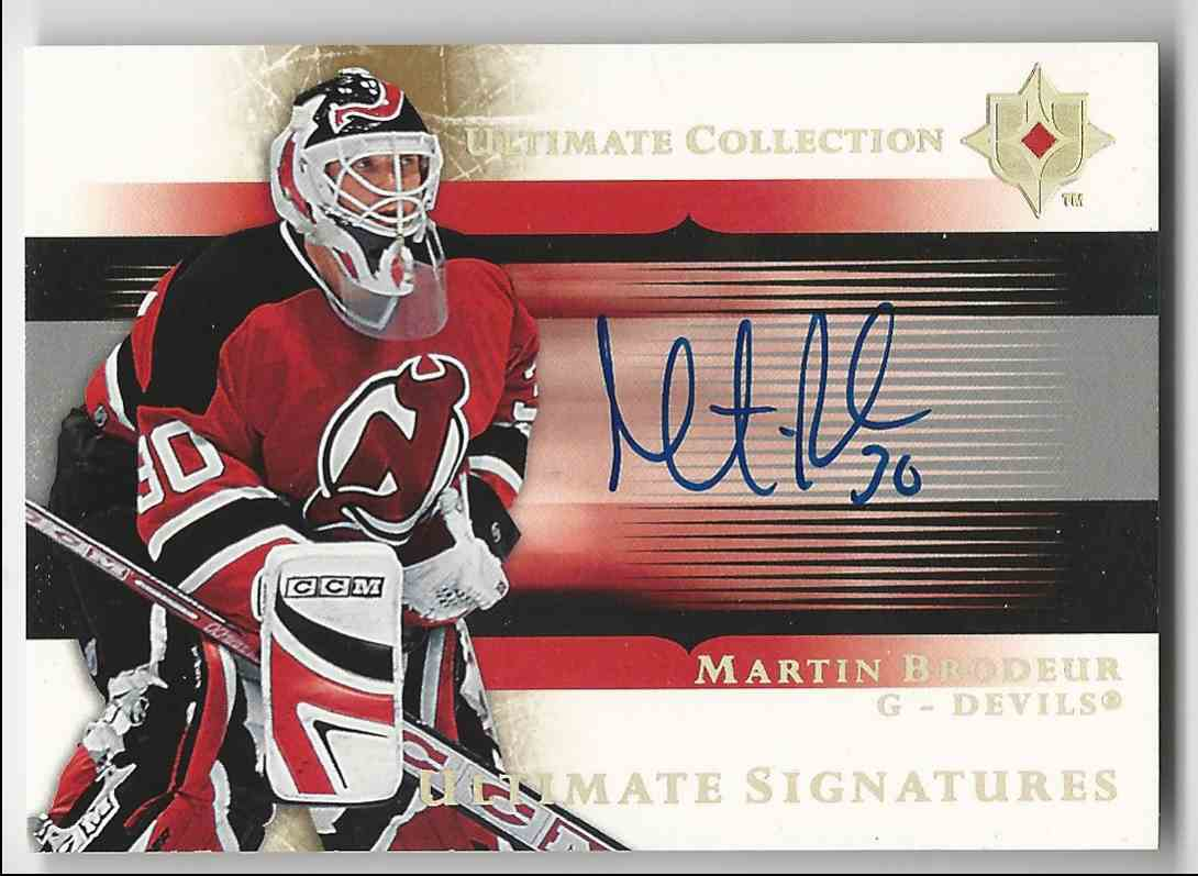 2005 06 Ultimate Collection Ultimate Signatures Martin Brodeur